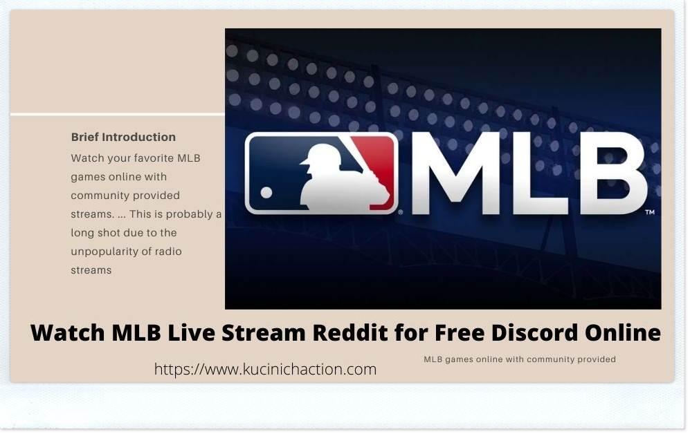 MLB Live Stream Reddit